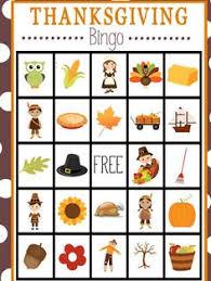 free printable thanksgiving bingo bingo thanksgiving