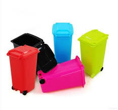 Office Desk Tidy 1 Pcs Mini Wheelie Bin Desk Tidy Office Desktop Stationery