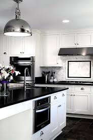 beautiful black u0026 white kitchen design ideas