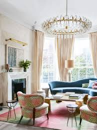 art deco details in london thou swell art deco living room with pink palette in london via thouswellblog