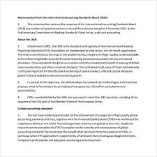 sample accounting memo 8 documents in word pdf