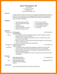 Physical Therapy Resumes 7 Therapist Resume Informal Letters