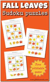 fall leaves sudoku free printable gift of curiosity