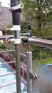 sonnenschirmhalter balkon balkon geländer befestigung für schirmstöcke 25 5 bis 42 mm ø 2