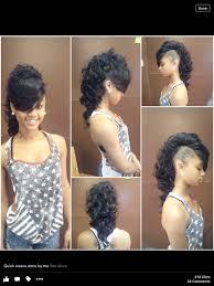 mwahahwk hairstule done using kinky mohawk creative style weave my work pinterest mohawks