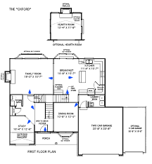 custom floorplans custom home floor plans the oxford st louis mo
