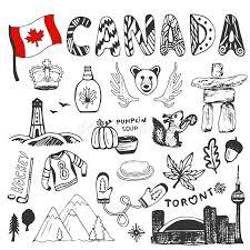 Colorado travel symbols images Sketch hand drawn collection of canada symbols canadian culture jpg