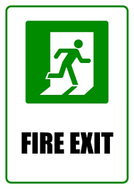 fire exit sign template how to design a fire exit sign