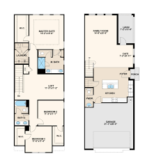 willow floor plan at thornbrooke at towne center townhomes in
