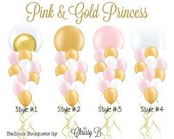 ballon boquets pink and gold princess balloon bouquet perfectly pretty