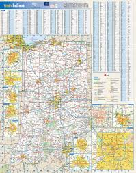 Interstate Map Of United States by Large Roads And Highways Map Of Indiana State With National Parks