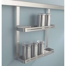 etagere aluminium cuisine etagère à épices pour barre de crédence métal l 26 x h 30 cm