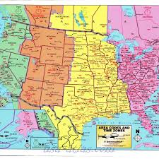 united states map with time zones and area codes united states map time zones printable map of usa