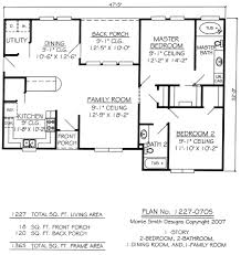 Simple 2 Bedroom House Plans by 2 Bedroom 2 Bath House Plans