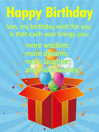 many more wishes for a son happy birthday wishes card this