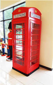 Red Phone Booth Cabinet London Red Telephone Booth English Iron Phone Box Life Size