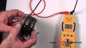 how to properly test a contactor youtube
