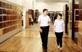 employees walking through har avalon flooring office photo