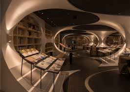 Chinese Interior Design by Xl Muse Creates Tunnel Of Books For Shop In China