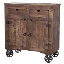 hickory wood dark roast shaker door rolling kitchen island cart