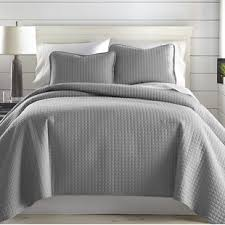 Quilted Bed Frame Gray Silver Quilt Coverlet Sets You Ll Wayfair