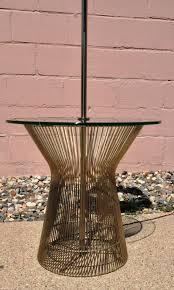 mid century modern warren platner style end table floor lamp eames