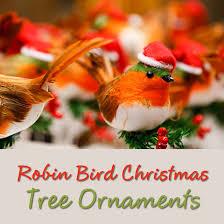 robin bird ornaments