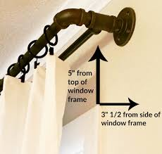 diy double industrial conduit curtain rod window house and