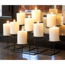 decorating unique black fireplace candelabra made of metal for