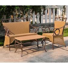 Three Piece Patio Furniture Set - settee group set
