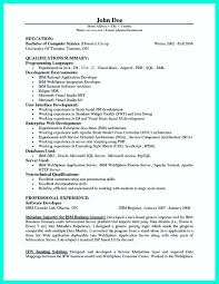 Canadian Resume Samples Pdf by Programmer Resume Example