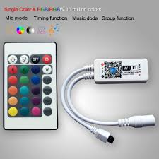 Led Strip Lights Remote Control by Mini Wifi Rgb Rgbw Controller Mic Music Control For 5050 Led Strip