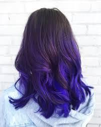 black hairstyles purple trending purple highlights underneath ideas on singular and blue