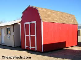 Red Barn Plans Tall Gambrel Barn Style Sheds