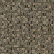 Geometric Fabrics Upholstery Brown Small Scale Geometric Boxes Contract Grade Upholstery Fabric