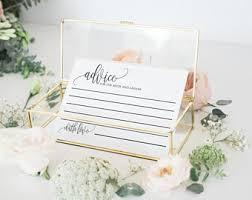 bridal cards bridal advice cards etsy