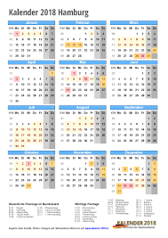 Kalender 2018 Hamburg Schulferien Kalender 2018 Hamburg Zum Ausdrucken Kalender 2018