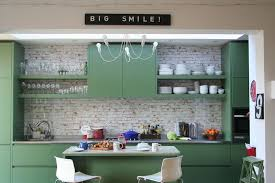 kitchens with shelves green kitchens painted cabinets in fired earth zangar green in the small