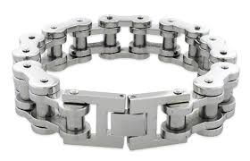 silver stainless steel bracelet images Steel very thick motorcycle chain bracelet 18mm jpg