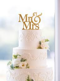 glitter mr and mrs wedding cake toppers in your choice of