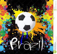 football world cup with paint splash color stock vector image