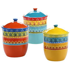 amazon com certified international 3 piece valencia canister set