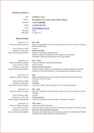 Curriculum Vitae Template Microsoft Word Curriculum Vitae Formats
