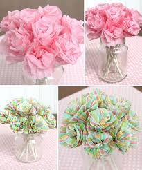 diy baby shower paper bouquet centerpiece party ideas