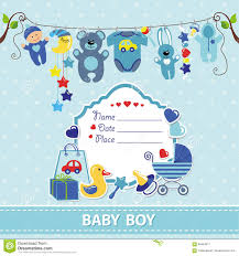 baby boy shower invitations new born baby boy card shower invitation template stock vector