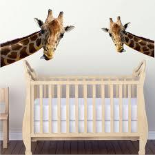 Giraffe Wall Decals For Nursery Leaning Giraffe Wall Mural Decal Animal Wall Decal Murals