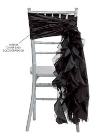 black chair sashes curly willow chair sash black new design cv linens