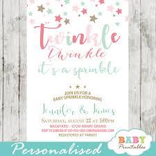 baby sprinkle invitations twinkle twinkle baby sprinkle invitations pink turquoise d350
