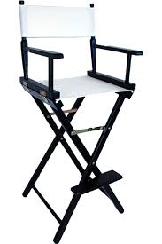 Tall Director Chairs The Tall Directors Chair In Black Wood With A White Canvas