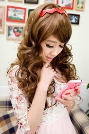 korean long curly hairstyles korean long hairstyle korean